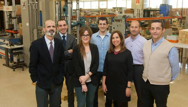 De izquierda a derecha, José Antonio Sacristán, César Martín, Amaia Zuazua, Javier Bermejo, Marina Vidaurre, Enrique Baquero y Rafael Miranda.