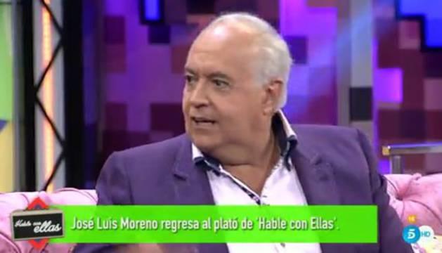 José Luis Moreno durante su entrevista en 'Hable con ellas'.