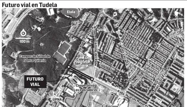 El nuevo vial de Huertas Mayores de Tudela costará finalmente 1,1 millones