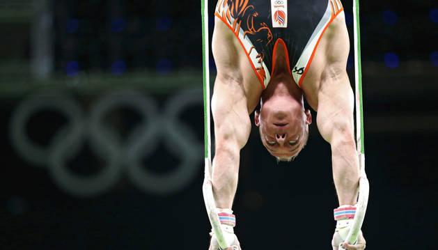 El gimnasta Yuri van Gelder.