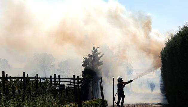 Un incendio forestal se ha declarado este miércoles en la Cendea de Iza, y afecta a varios municipios.