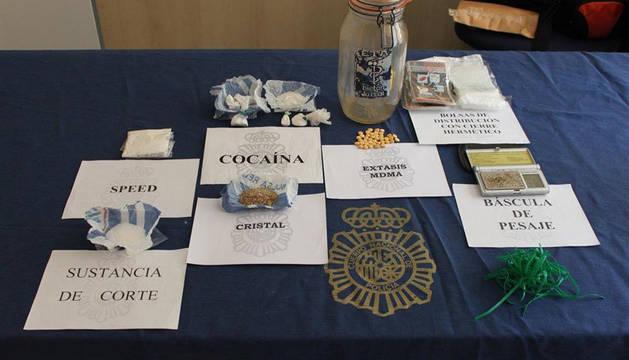 Detenido tras intervenirle decenas de dosis de speed, MDMA y cocaína