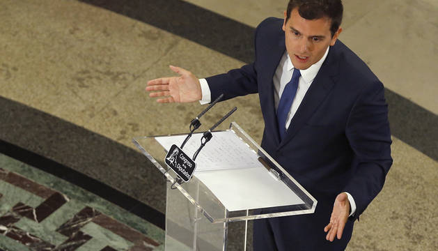 Rivera, tras su encuentro con Rajoy.