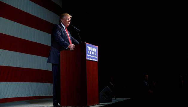 El candidato republicano a la presidencia de EE UU, Donald Trump