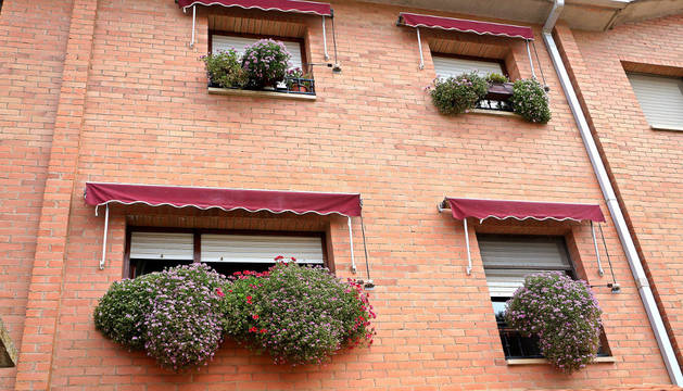 La fachada de la casa de Mª Victoria Burgui, primera clasificada.