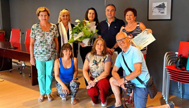 Ganadores y organizadores del II Concurso de Fachadas y Balcones de Villafranca.