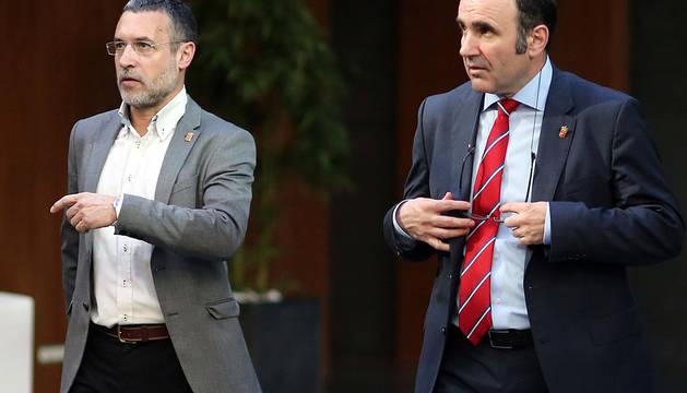 Miguel Laparra y Ayerdi, en el Parlamento.