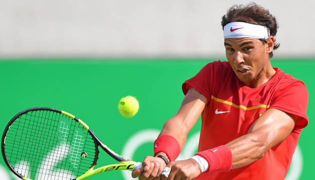 Rafael Nadal, durante un partido anterior.