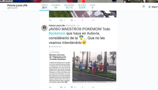 La Policía de Las Palmas monopoliza los pokemon