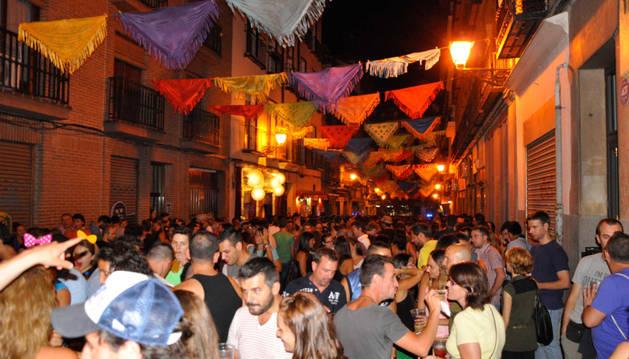 Fiestas del barrio de Lavapiés de Madrid.