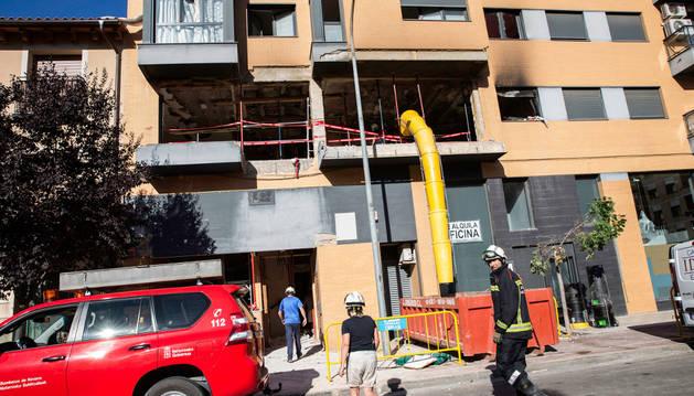 Imagen del edificio de la calle Fuente Canónigos donde se registró la explosión.