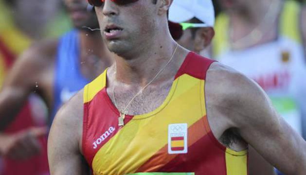 Miguel Ángel López, durante la carrera.
