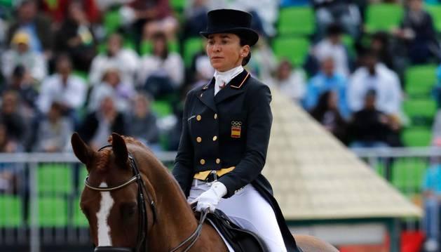 Beatriz Ferrer Salat, con 'Delgado'.