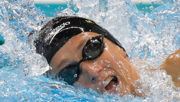 Mireia Belmonte, durante la final del 800 metros libre.
