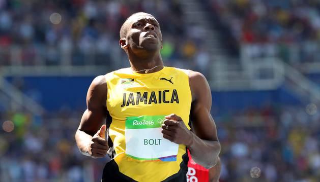 Usai Bolt, en la primera ronda de los 100 metros.