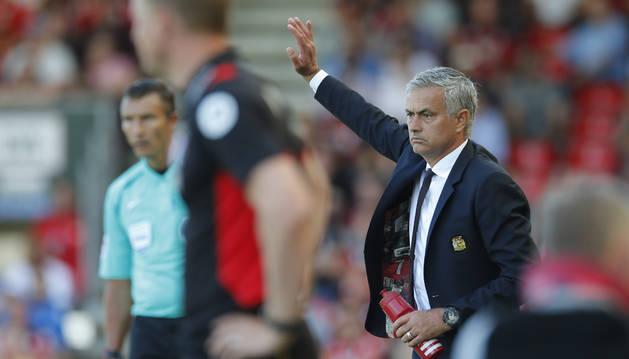 Mourinho, con el Manchester United.