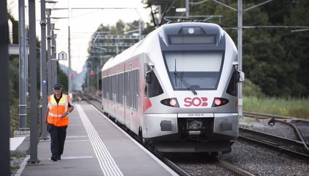 Un tren en San Gallen.