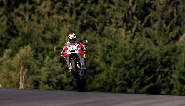 El italiano Andrea Iannone, en el GP de Austria.