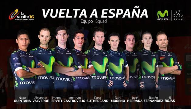 Equipo del Movistar Team para la Vuelta.