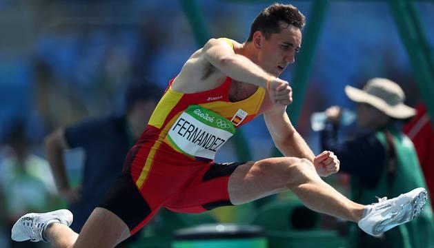 El navarro Sergio fernández, a semifinales de los 400 vallas