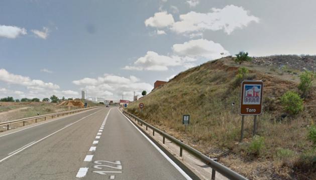 Entrada al municipio zamorano de Toro.