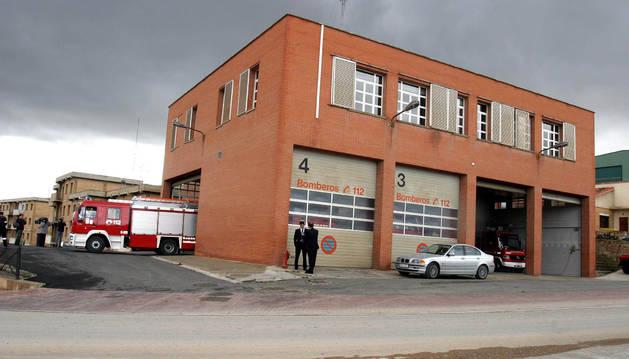 Fachada del parque de bomberos de Tudela.