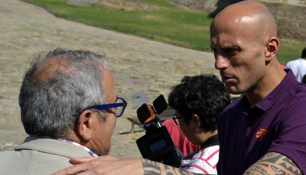 La plantilla de Osasuna ha acudido este martes a la Basílica de San Francisco Javier.