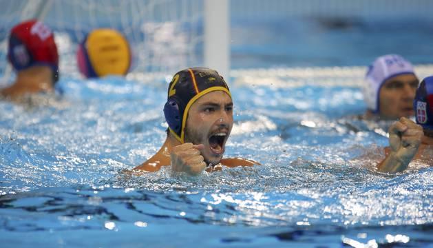 Alberto Munárriz, en los cuartos de final contra Serbia