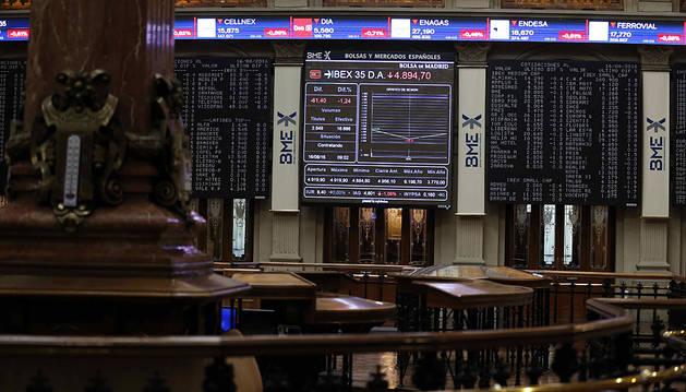 La Bolsa española cae el 1,13% y pierde los 8.700 puntos