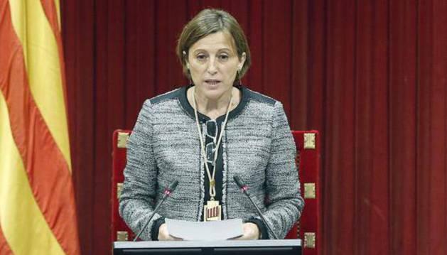 La presidenta del Parlament catalán, Carme Forcadell.