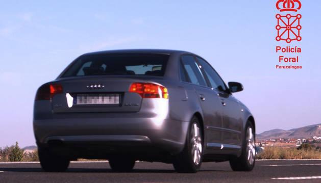 Imagen de un vehículo localizado circulando a 198km/hora en la AP68 en Tudela.