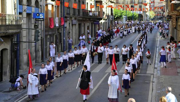 Tafalla regala a San Sebastián el  segundo día grande de sus fiestas
