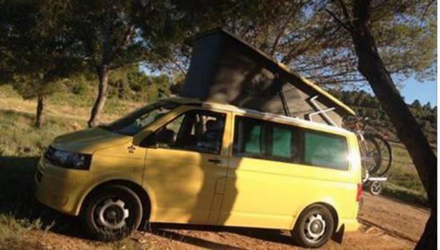 'Dodo van', la furgoneta que fue robada y ha sido recuperada.