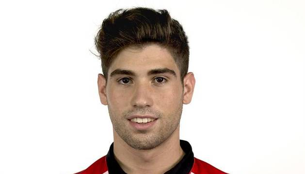 Julen Arellano, con el Athletic.