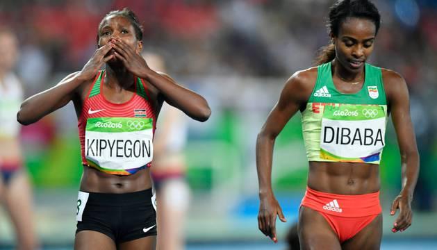 Faith Kipyegon y Genzebe Dibaba.