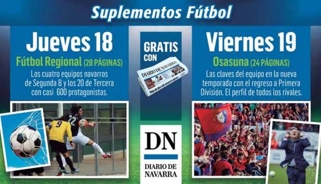 Mañana, con Diario de Navarra, suplemento con todo el Fútbol Regional