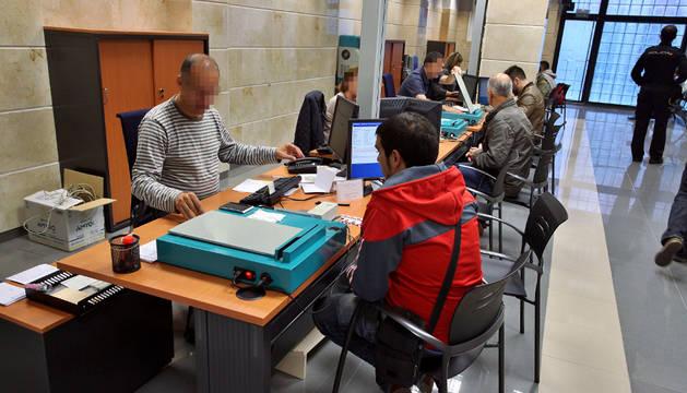 La oficina del DNI en Pamplona.