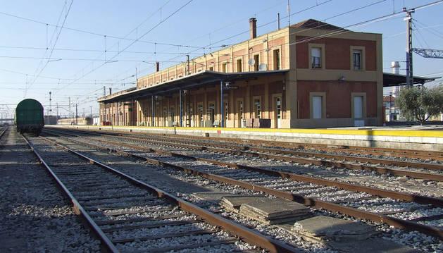 Estación de trenes de Castejón.