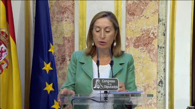Ana Pastor anuncia la fecha de la investidura