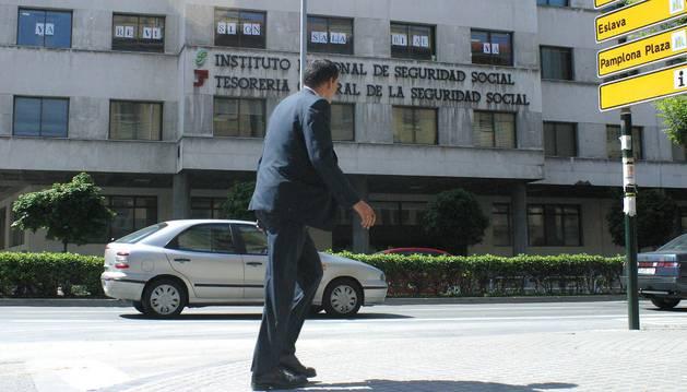 Sede de la Seguridad Social en Pamplona.