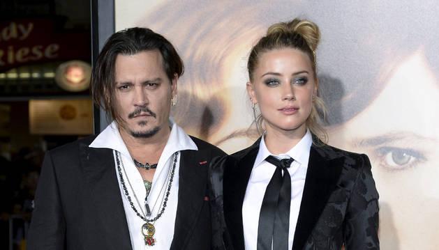 Amber Heard junto a su exmarido Johnny Depp.