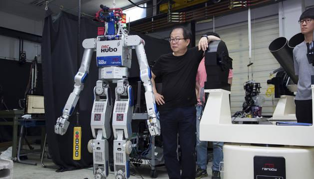 Imagen del robot Hubo.