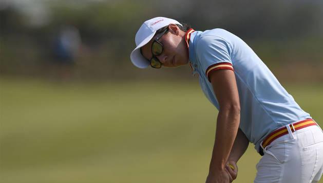 Carlota Ciganda, durante la tercera jornada de golf.