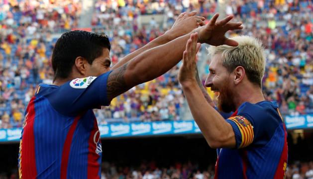 Luis Suárez y Messi.