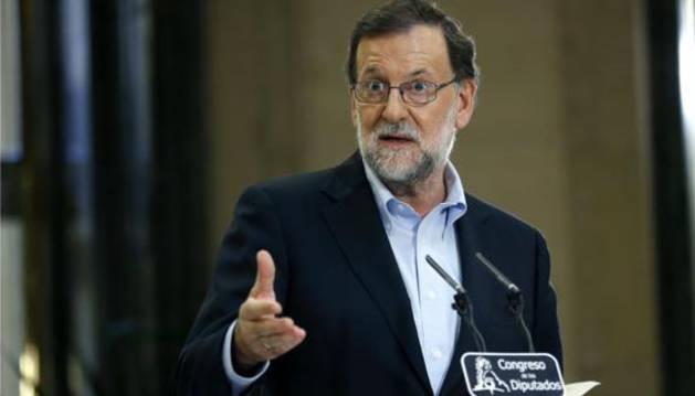 El presidente del Gobierno en funciones y del PP, Mariano Rajoy.