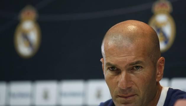 Zinedine Zidane, en la rueda de prensa de este sábado.