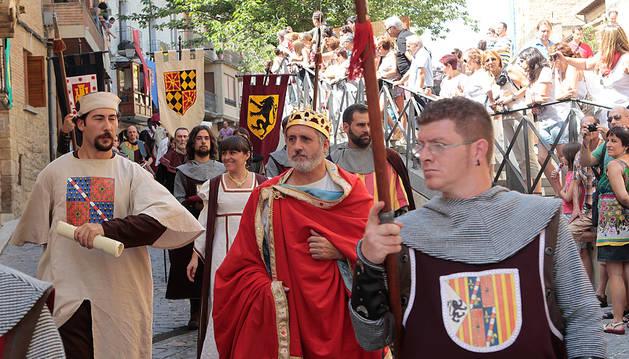 Imagen de una edición anterior de las Jornadas Medievales de Olite.
