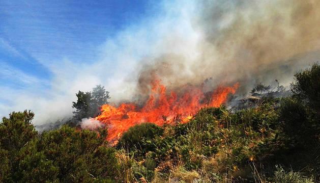 El incendio de Jerte fue provocado y se ha reactivado