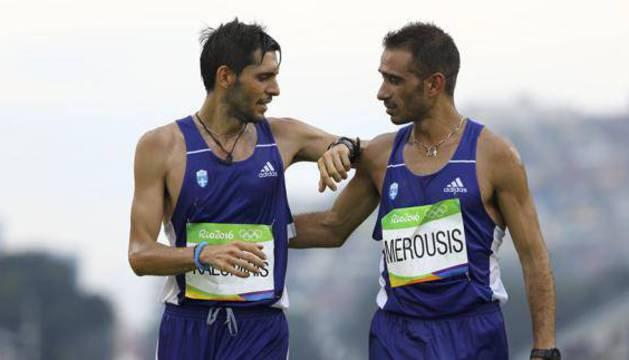 Michalis Kalomiris (izq), durante una competición en Río 2016.