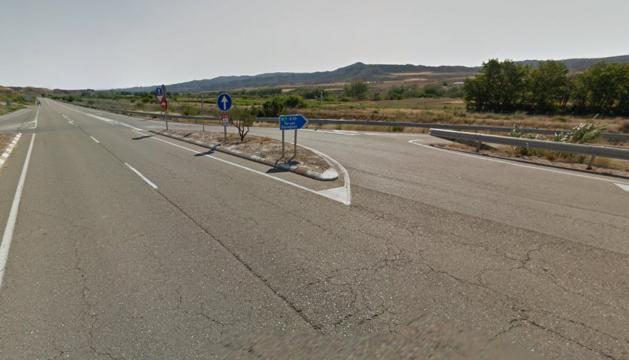 Kilómetro 476 de la carretera N-330, donde se ha producido el accidente.
